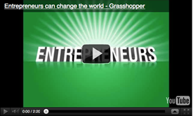 Grasshopper: Entrepreneurs can change the world video