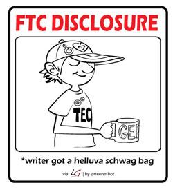 FTP Disclosure: writer got schwag bag